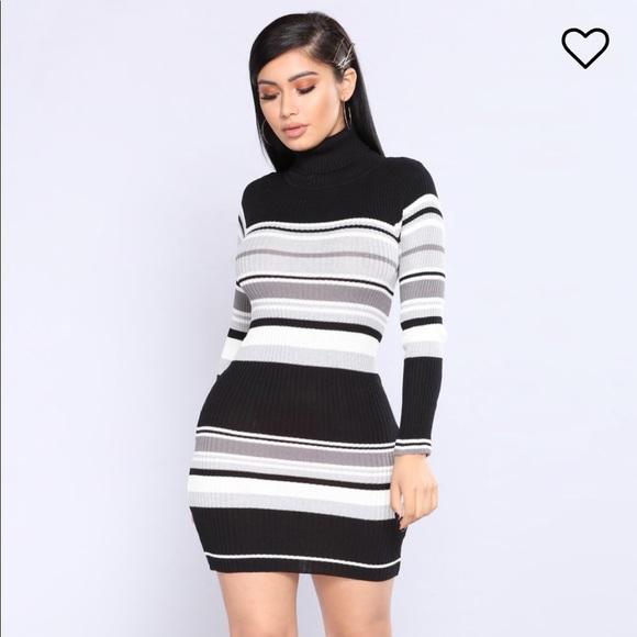 949ee503938 Fashion Nova Dresses   Skirts - Striped Sweater Dress